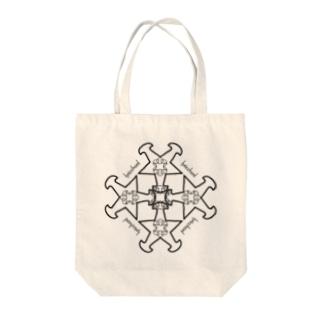 lyricchordスター黒ライン/ドローイングアートトート Tote bags
