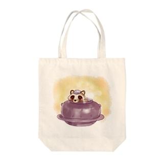 お風呂たぬき Tote bags