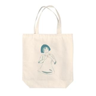 小さな愛の子 Tote bags