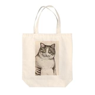 ねこのみつお Tote bags
