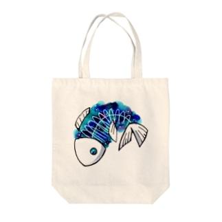 宇宙のさかな Tote bags