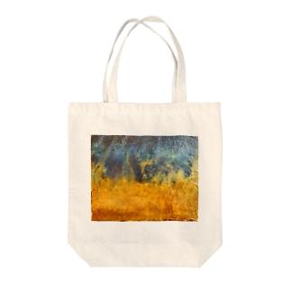 黄金砂粒の漂い Tote bags