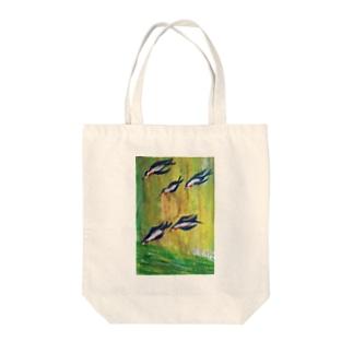 つばめ Tote bags