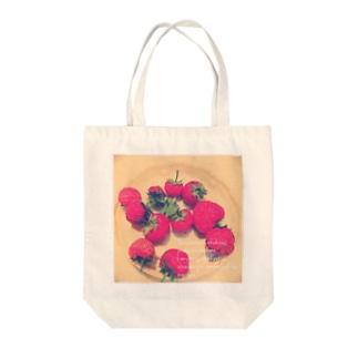イチゴいちご Tote bags