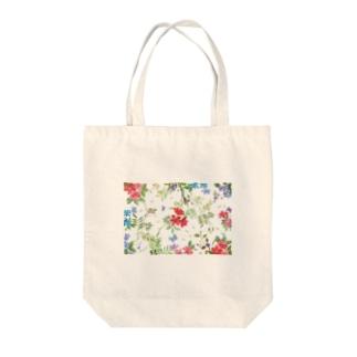 ハナガラ Tote bags