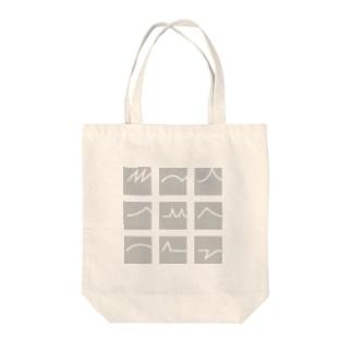 四角いまえがみ(gray) Tote bags