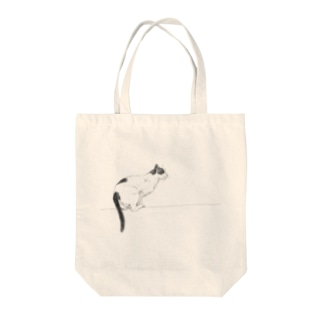 【jump cat】 Tote bags
