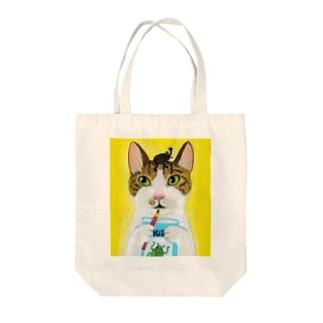 のっぴきならない/保護猫レッティ Tote bags