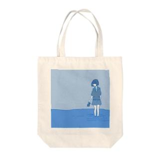 青は世界 Tote bags