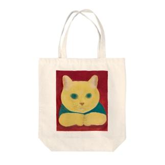のっぴきならない/保護猫カール Tote bags