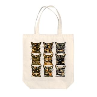 さび猫9匹 Tote bags