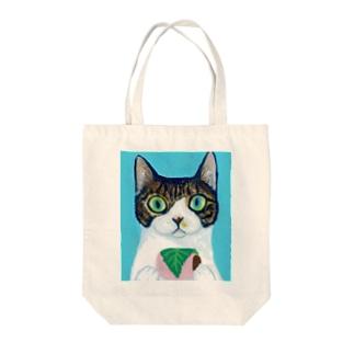 のっぴきならない/保護猫モッチー Tote bags