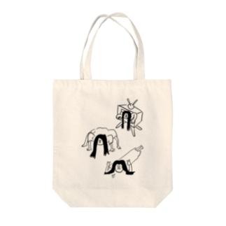 貞子からキュンです Tote bags
