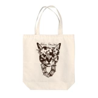 Nobigao アロハ猫 Tote bags