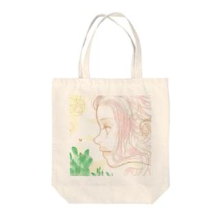 チョウチョと♪ Tote bags