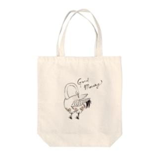 グッモーニンスワン Tote bags