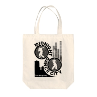 MIDNIGHT DANCE CITY Tote bags
