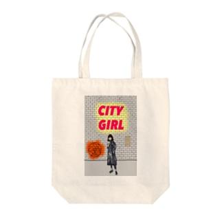 シティガール Tote bags