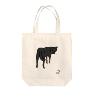 ラム犬とおやつ(色つきver) Tote bags