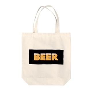 BEER★BLACK Tote bags