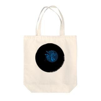 ナイトツアー@iriomote(青ヤシガニ・文字入り) Tote bags
