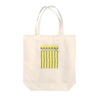 大量プラグ Tote bags