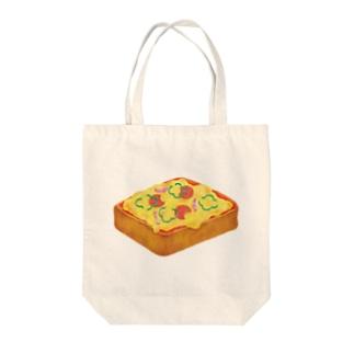 ピザトースト Tote bags