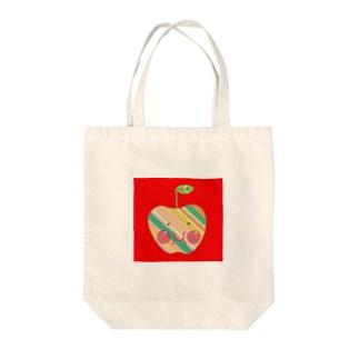 福島発信リンゴちゃん赤バージョン Tote bags