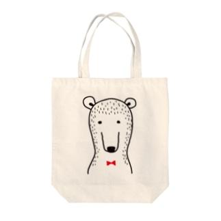 ブツブツなクマさん Tote bags