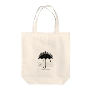 sound of rain Tote bags