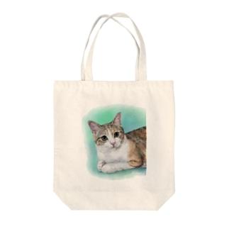 ジェミーちゃん Tote bags