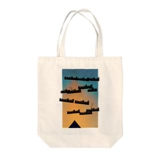 megacity Tote bags