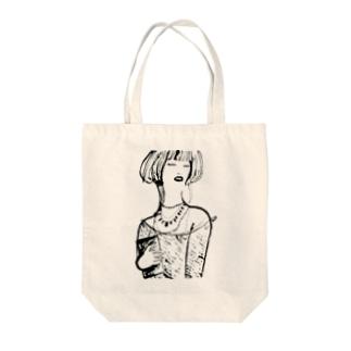 ゴージャス姉さん Tote bags