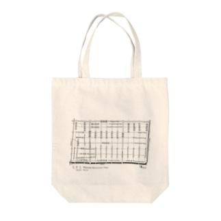 ミナミstreets Tote bags