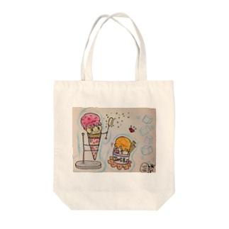 アイスクリン&バブークリン Tote bags