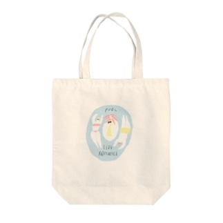 pool side romance Tote bags