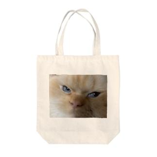 鋭い猫 Tote bags