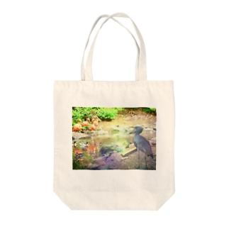ハシビロコウの憧憬 Tote bags