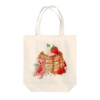 パンケーキとテディベア Tote Bag