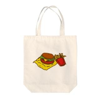 ネコックさんのハンバーガー Tote bags
