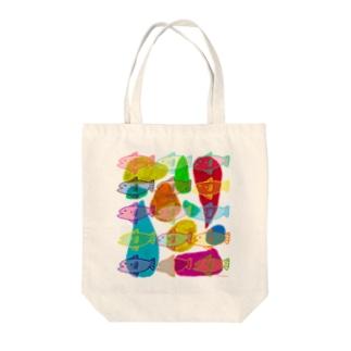 魚の冬休み Tote bags