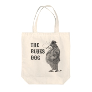 The Blues Dog Tote bags