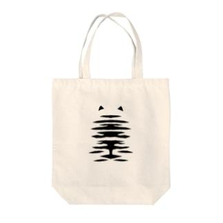 ホワイトタイガー Tote bags