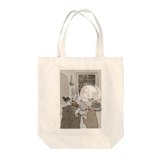 お月さまとお茶 Tote bags