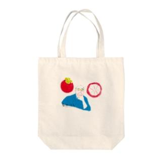 【果物と文人】江戸川乱歩とマンゴスチン トートバッグ