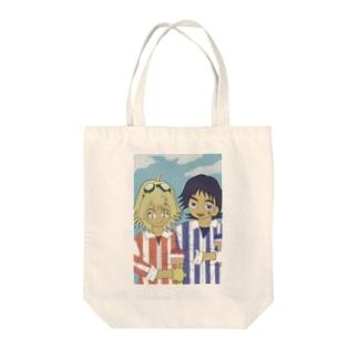 ペンキ塗りコンビ Tote bags