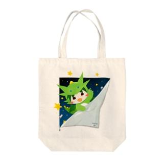 宇宙からひょっこりテン Tote bags
