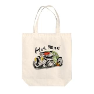 ホットロッド Tote bags
