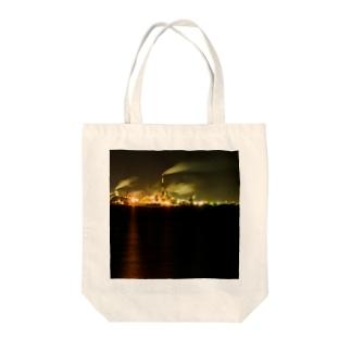 工場夜景3 Tote bags