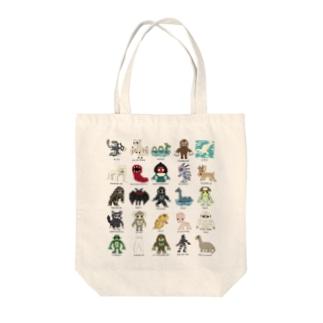 ドットUMA図鑑 Tote bags